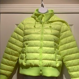 NWT Zara neon puffy jacket